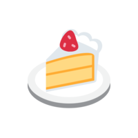 the profile picture of the New Cakes bot - a cake emoji