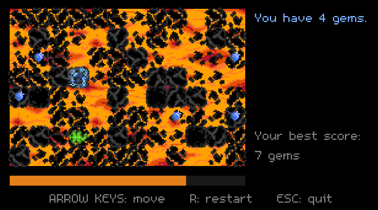 Screenshot from the beta version of The Floor is Lava.